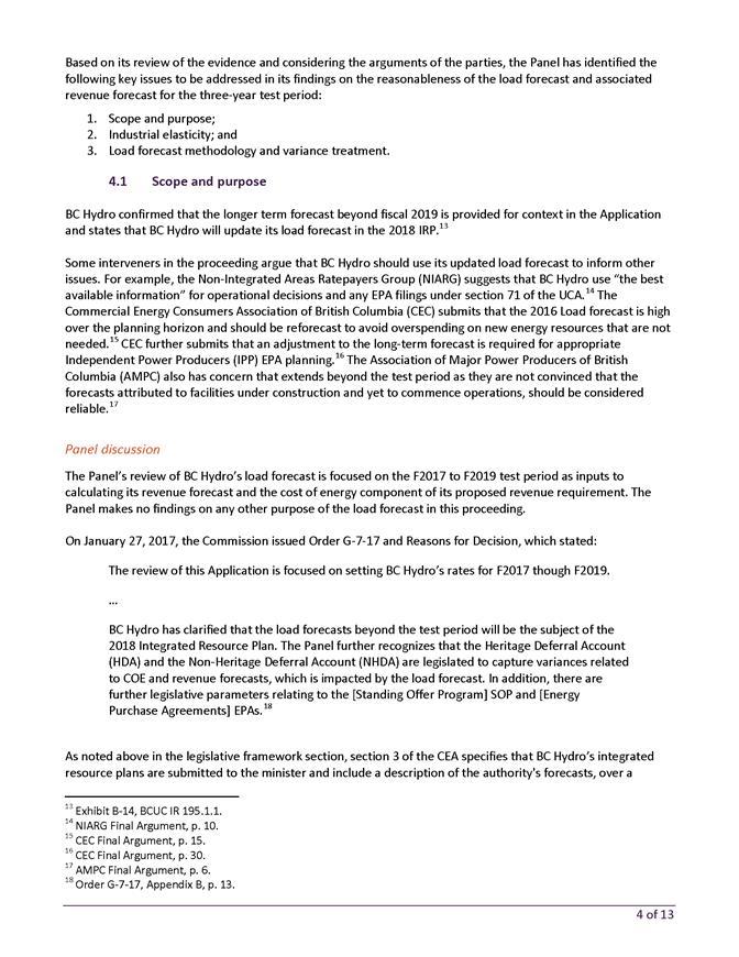 British Columbia Hydro and Power Authority ~ F2017 to F2019